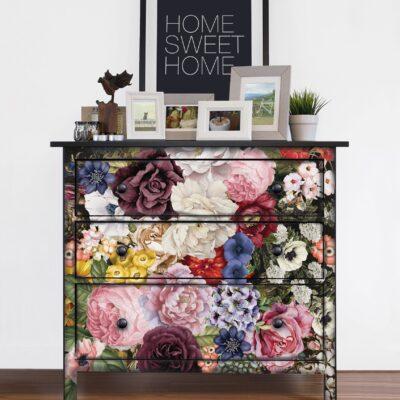 Wonderous floral dresser transfer