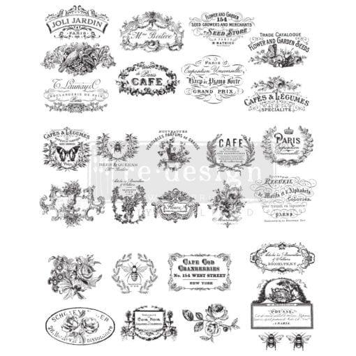 Classic Vintage Labels Transfer