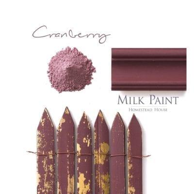 cranberry milk paint