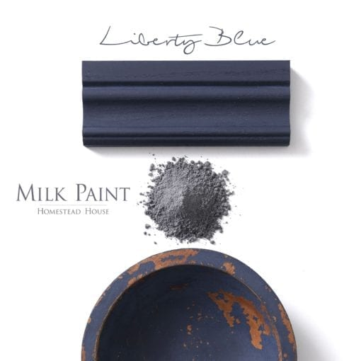 liberty blue milk paint