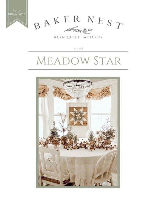 Meadow Star Barn Quilt pattern