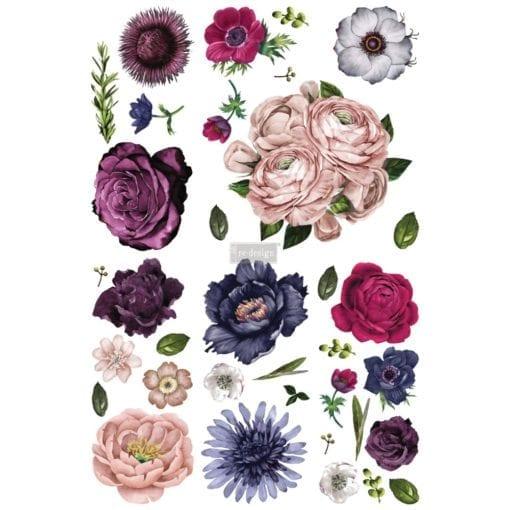 Lush floral transfer