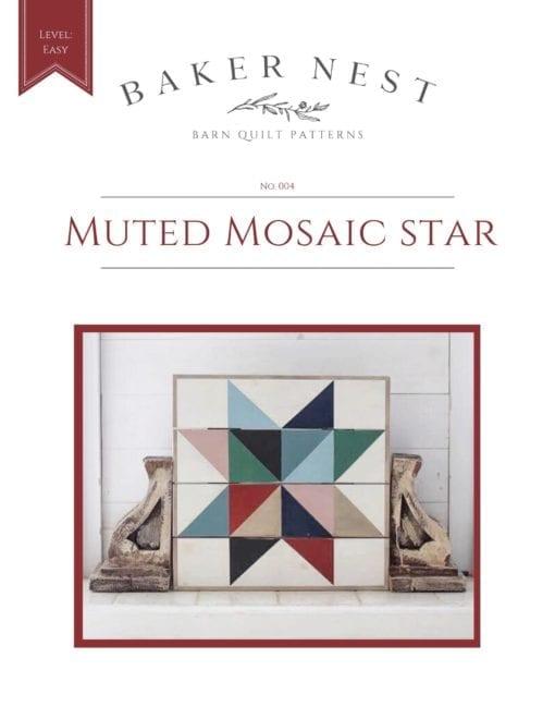 Muted Mosaic Star Barn Quilt Pattern