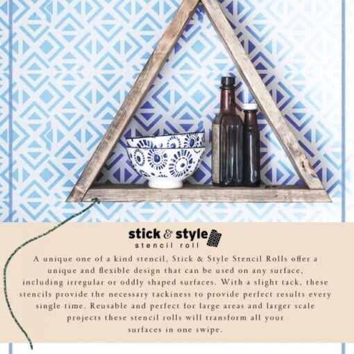 irregular triangles stick and style stencil