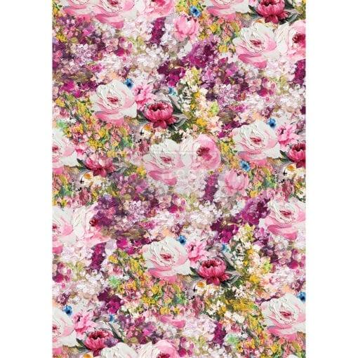 Fuchsia Meadow Rice Paper