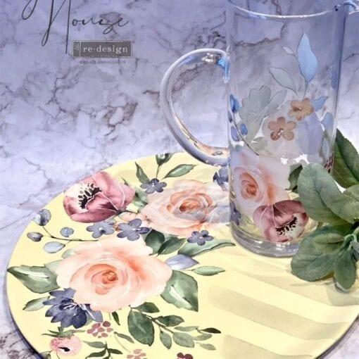 Watercolor Bloom Transfer