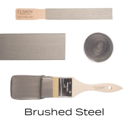 brushed steel fusion mineral paint