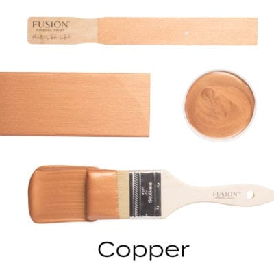 Copper fusion mineral paint