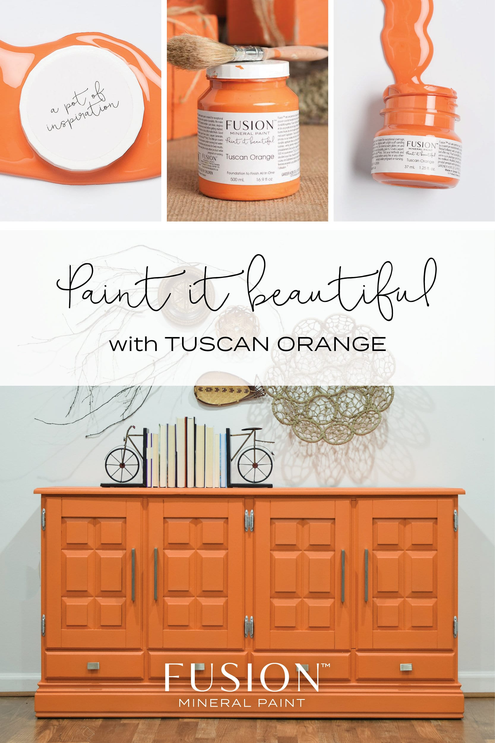 Fusion Mineral Paint In Tuscan Orange