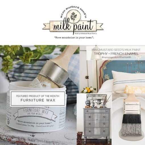 miss mustard seed milk paint Trophy French enamel furniture wax
