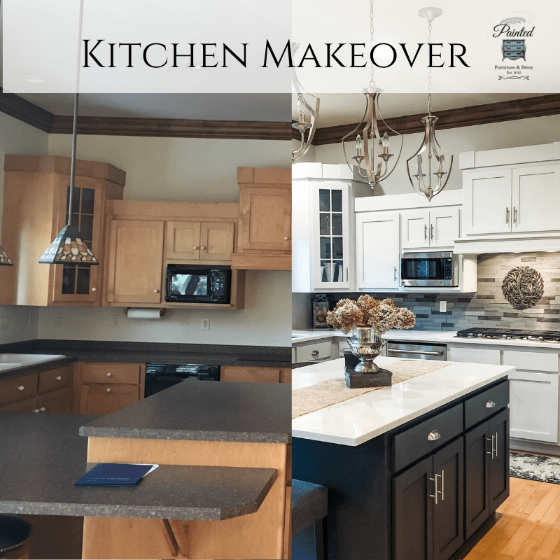 Kitchen Makeover Using Fusion Mineral Paint Part 1 Painted