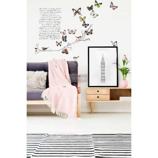 Parisian Butterflies Transfer