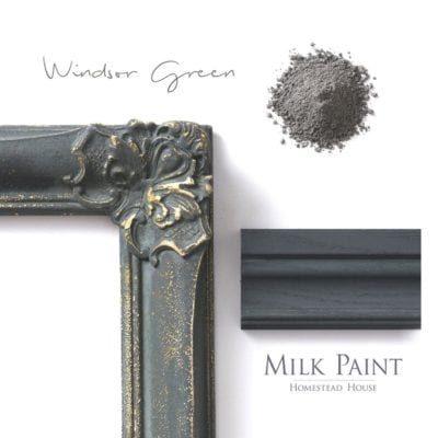 Windsor Green Homestead house milk paint