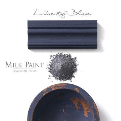 liberty blue milk paint