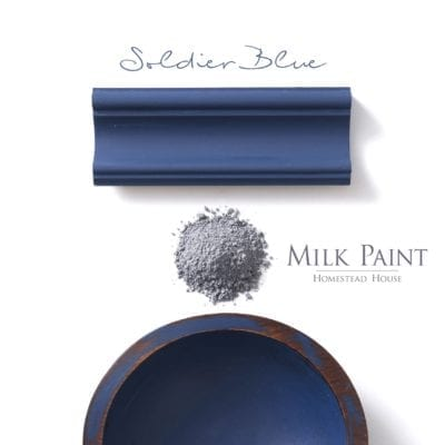 soldier blue milk paint