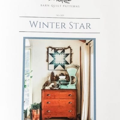 winter star barn quilt pattern book