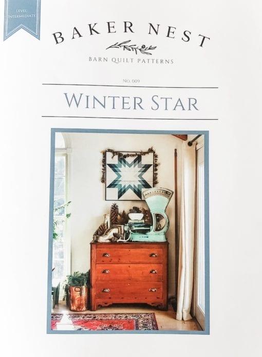 winter star barn quilt pattern book