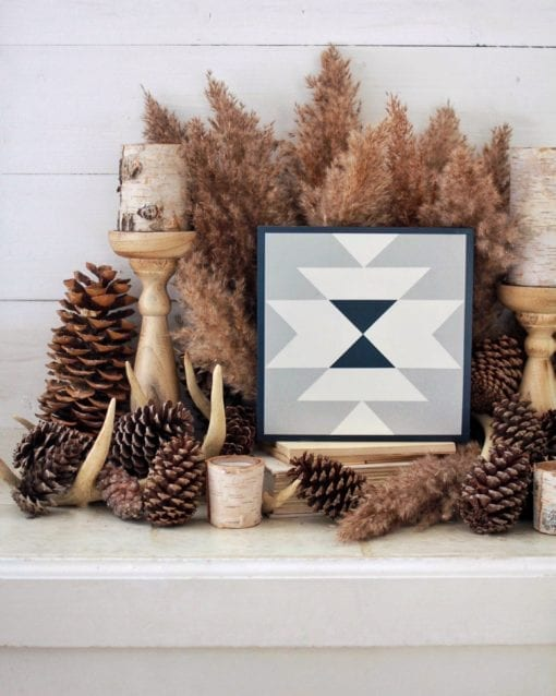 Tribal Diamond Barn quilt pattern