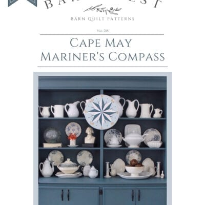 Cape May Mariner's Compass Barn Quilt Pattern Book