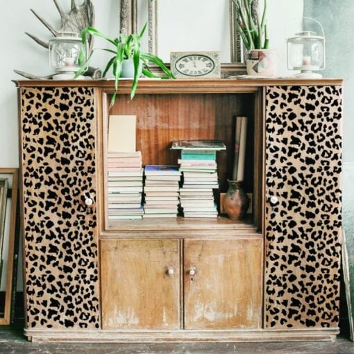 leopard stick and style stencil display