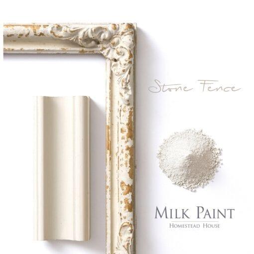 stone fence Homestead house milk paint