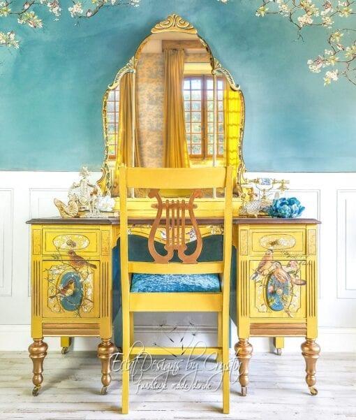 postal bird yellow vanity