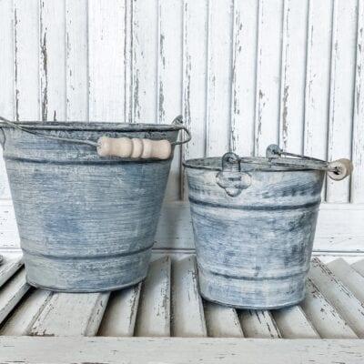 Aged Metal Buckets